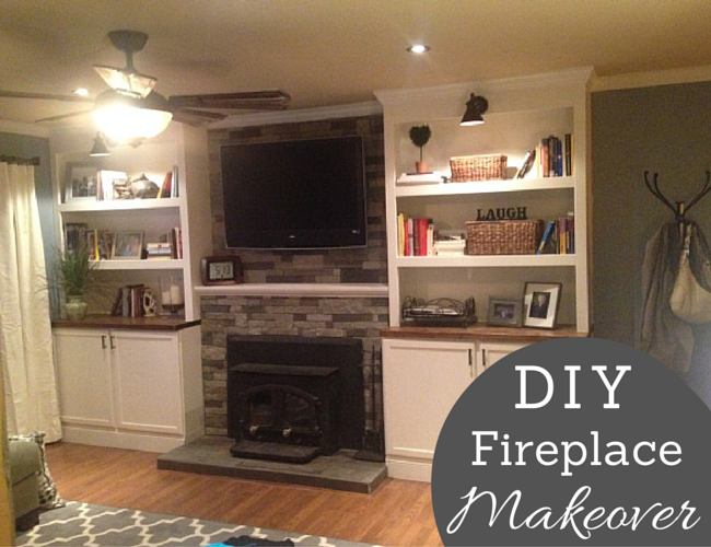 DIY Project Fireplace Makeover My SHINY Nickels